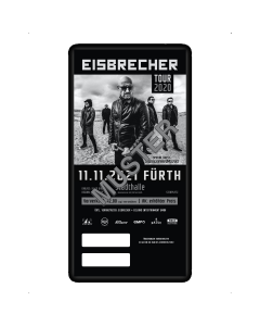 EISBRECHER '11.11.2021 - Fürth' Ticket