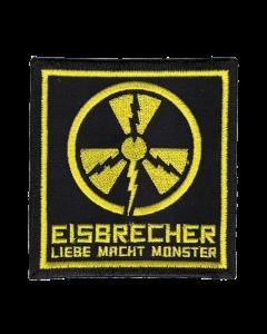 EISBRECHER 'LMM Quadrat schwarz' Klett-Patch