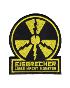 EISBRECHER 'LMM Kreis schwarz' Klett-Patch